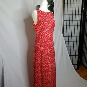Jonathan Martin Vintage 90s Pink Floral Maxi Dress